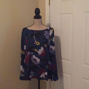 Loft blouse floral print size L